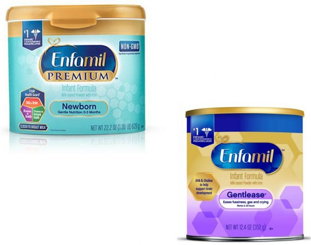 A picture of infant formula made by Enfamil.