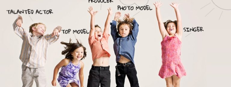 Children choosing their preferred roles for casting.