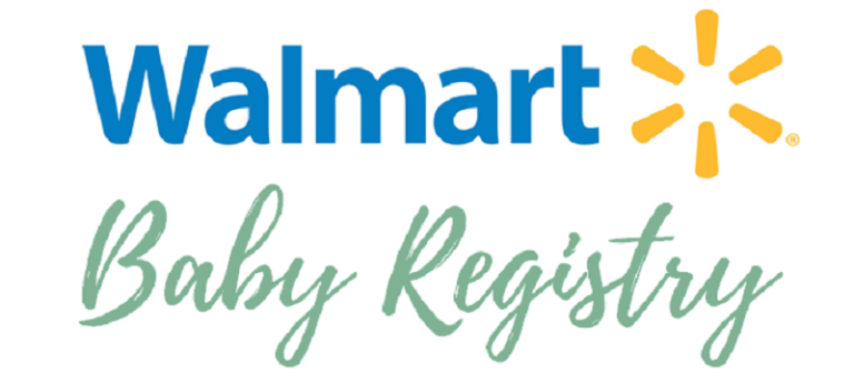The logo and advertising for Walmart's baby registry service.
