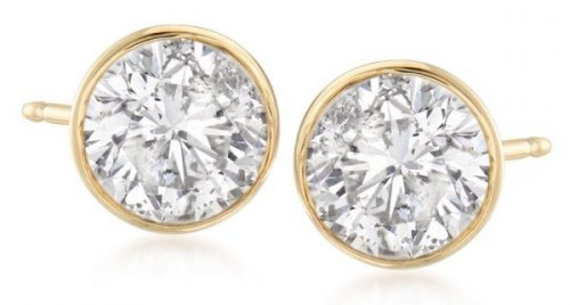 Pair of 2.00 ct. t.w. Diamond Stud Earrings in 14kt Yellow Gold Sweepstakes