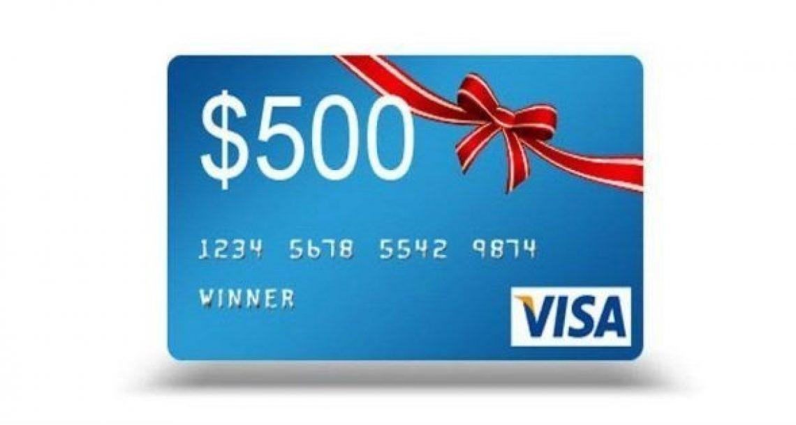 $500 Visa Prepaid Cards Sweepstakes